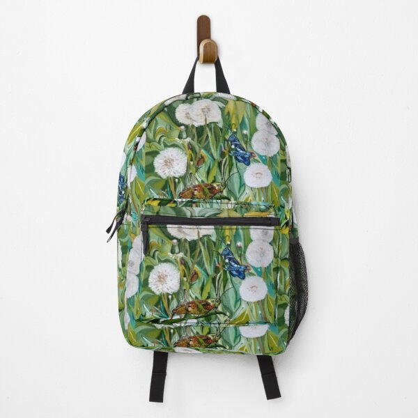 Grasshoppers and Dandelions (Oil Painting) Backpack