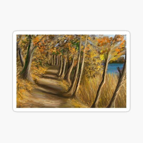 Walk through the woods in Sweden Sticker