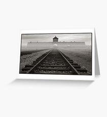 Death Gate - Auschwitz Birkenau - early morning Greeting Card