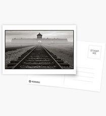 Death Gate - Auschwitz Birkenau - early morning Postcards