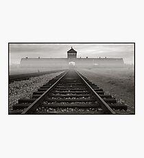 Death Gate - Auschwitz Birkenau - early morning Photographic Print