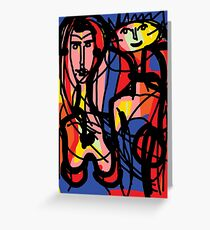 Colourful Couple  Greeting Card