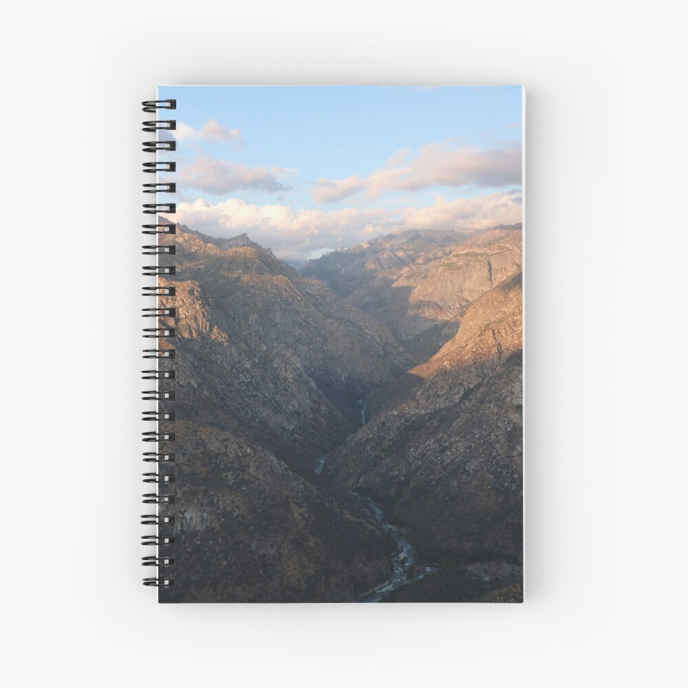 Kings Canyon overlook Spiral Notebook