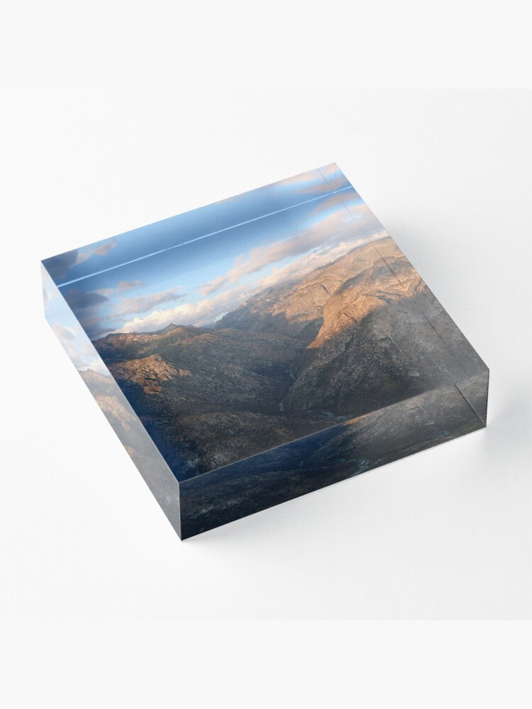 Alternate view of Kings Canyon overlook Acrylic Block