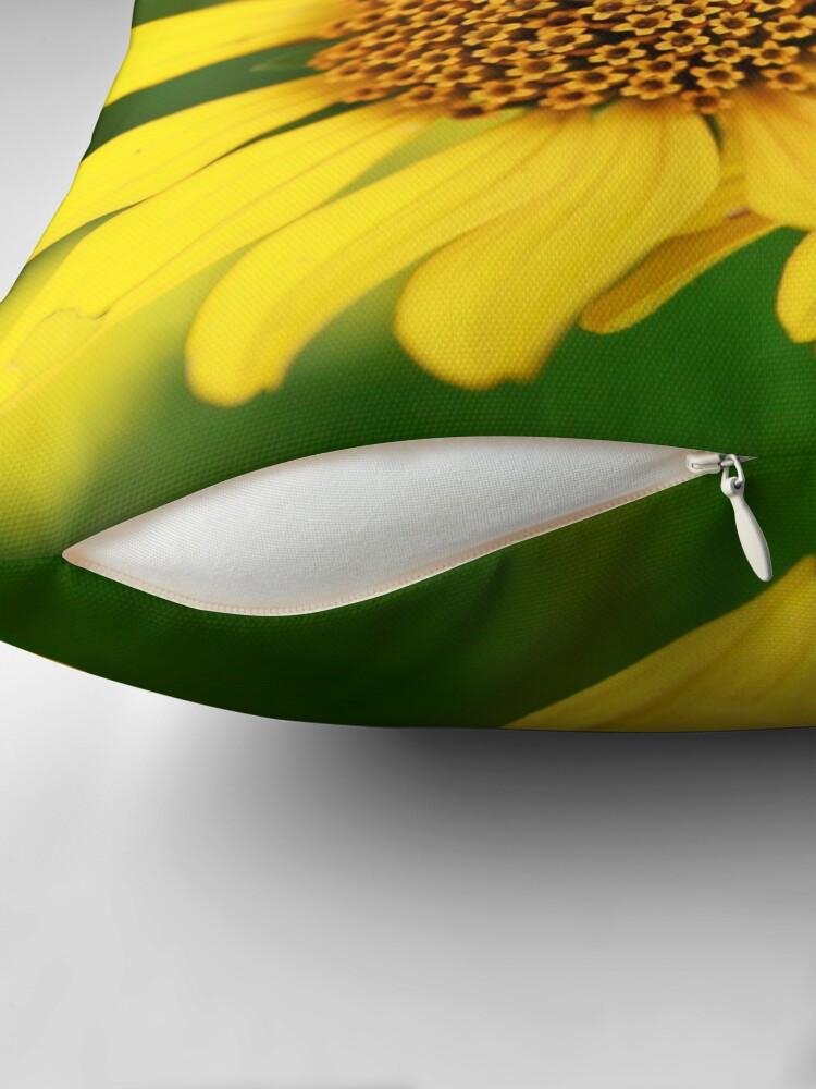 Alternate view of Oxeye bouquet Throw Pillow