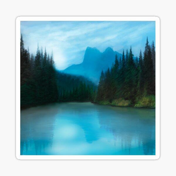 Mirror Smooth Lake Sticker