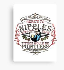 NIPPLES SEXY CUTE T SHIRT, FUN,STYLE,GIRLS,MEN,COLOURS,BREASTS,FUNNY,COOL,STYLE Canvas Print