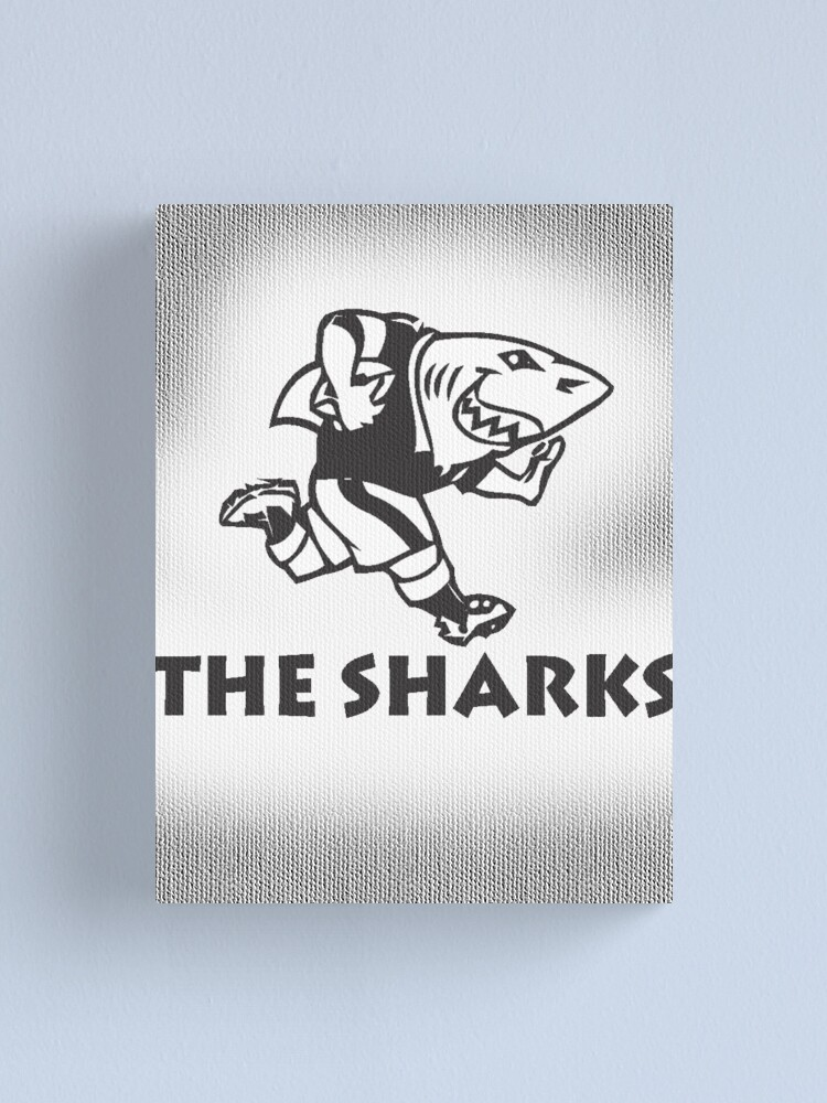 Alternate view of NATAL SHARKS FOR LIGHT SHIRTS SOUTH AFRICA RUGBY SUPER RUGBY Canvas Print
