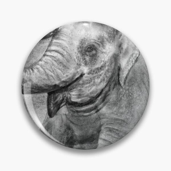 Charcoal Elephant Pin