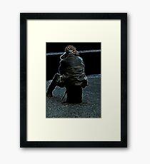Will I be left behind? Framed Print