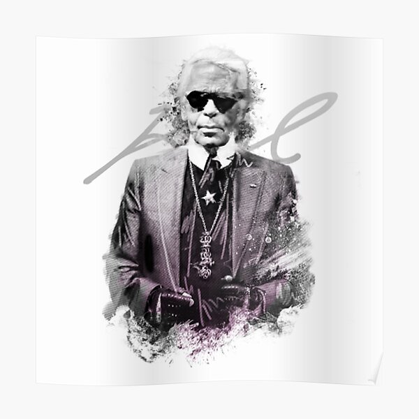 Karl Lagerfeld (paint 2) - édition 2020 Poster