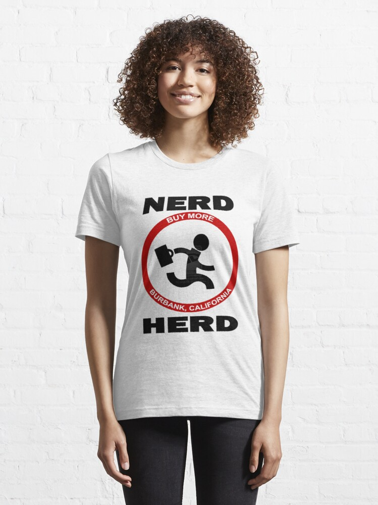 Alternate view of Chuck Nerd Herd Essential T-Shirt