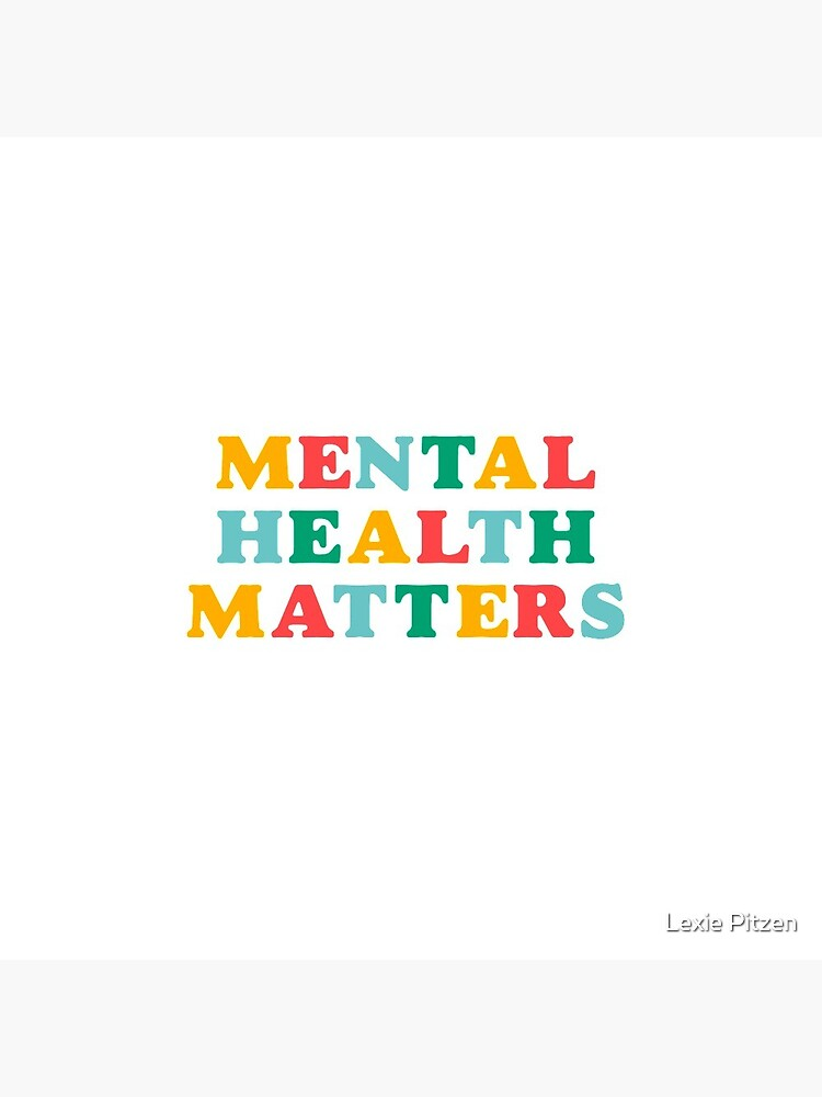 mental health matters rainbow quote by glowingly