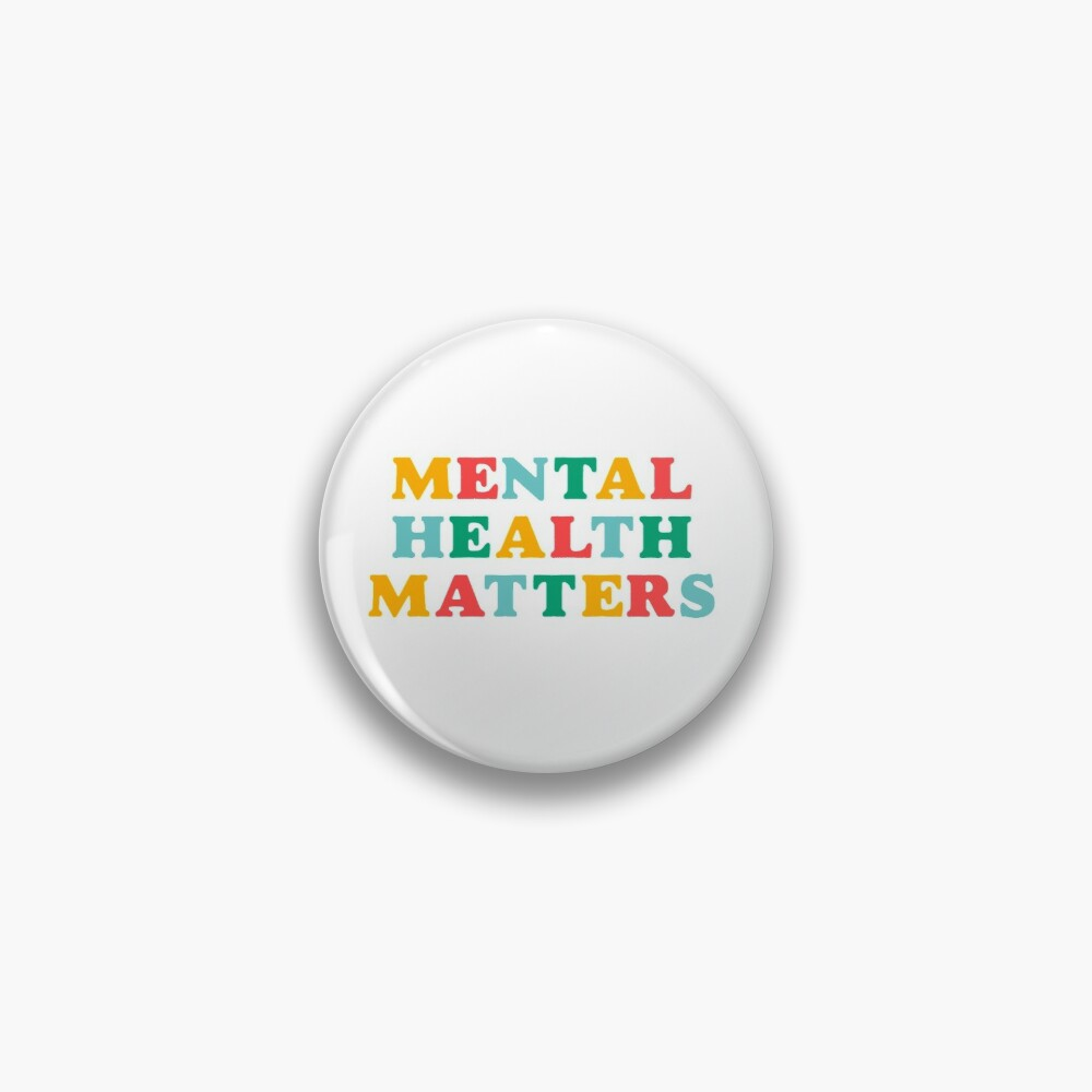 mental health matters rainbow quote Pin