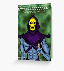 Skeletor likes Beer Greeting Card