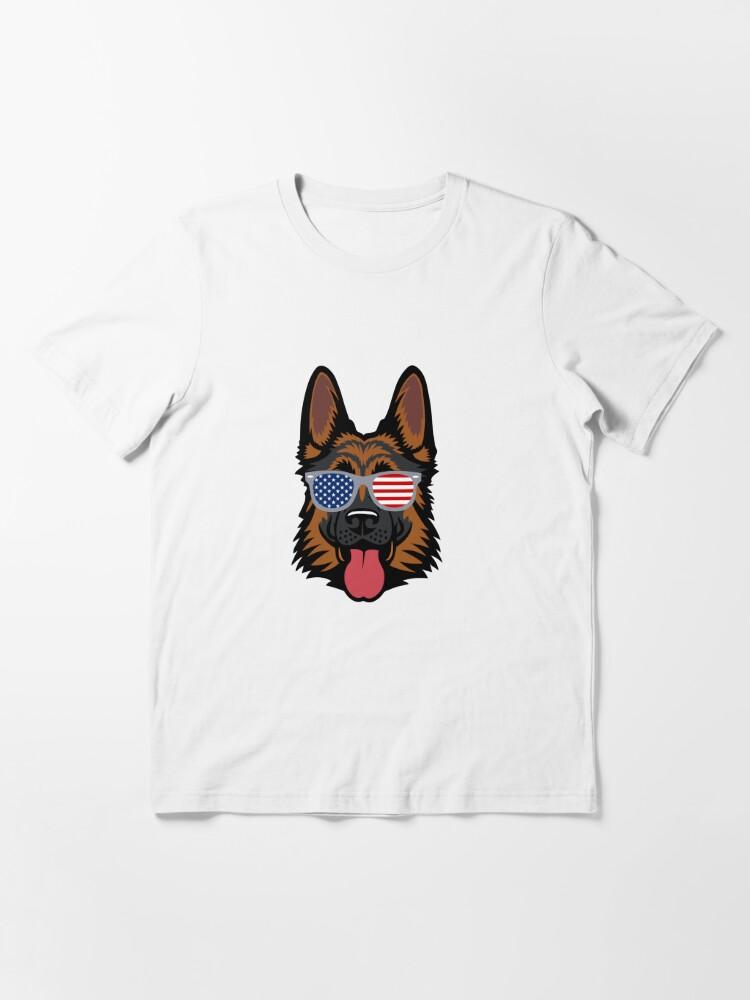 Alternate view of German Shepherd Cool American Patriot Essential T-Shirt