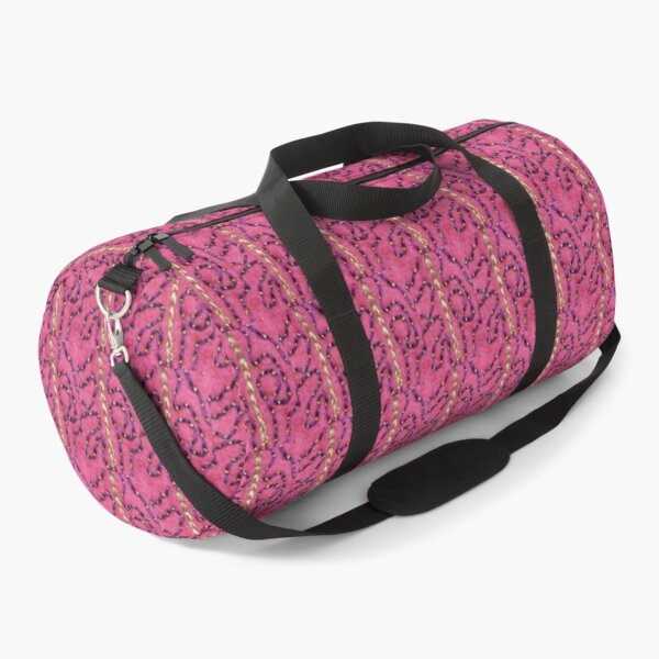 Meandering Embroidery Detail Duffle Bag