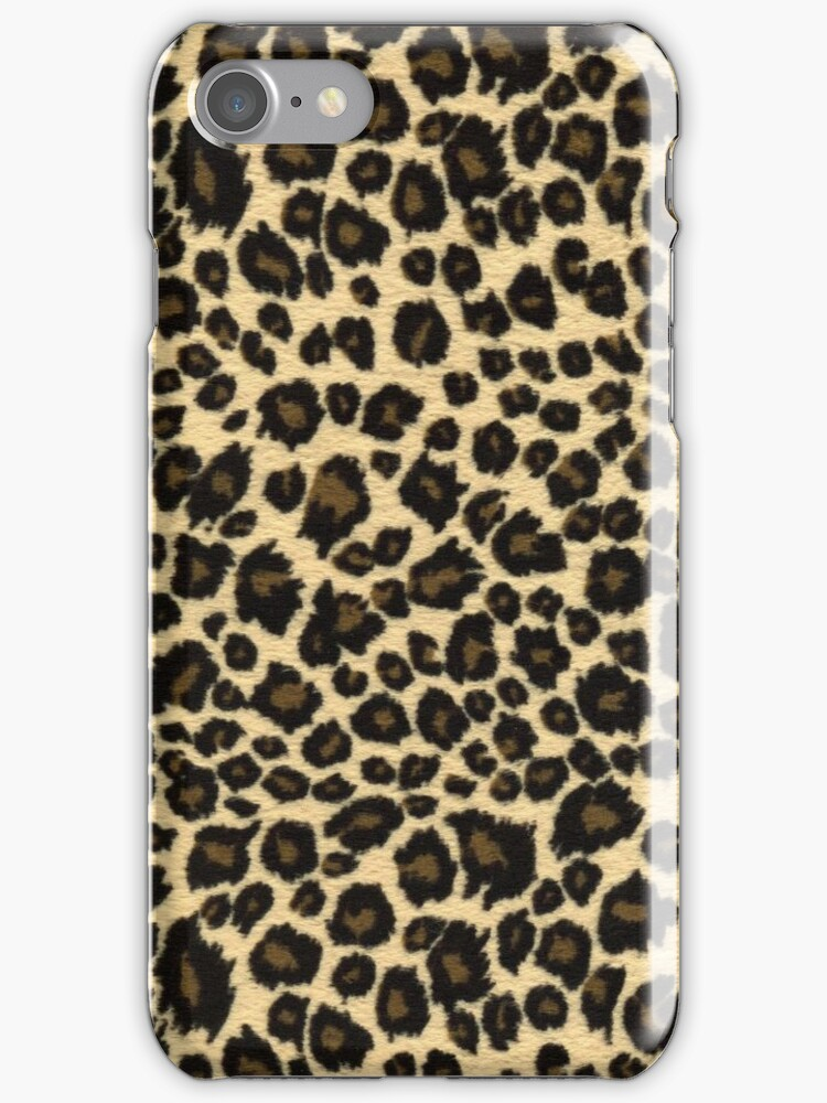 Wild Jungle Leopard Print iPhone iPod Case by wlartdesigns
