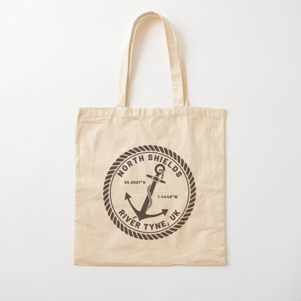 North Shields, River Tyne Anchor Design Cotton Tote Bag