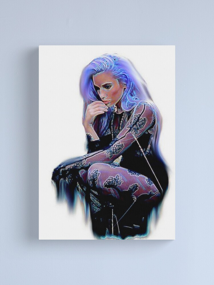 Alternate view of PURPLE POISED  Canvas Print