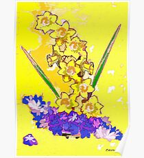 Daffodils and Crocuses Poster