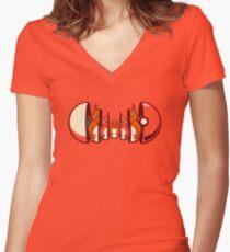 Pokétryoshka - Fire Type Women's Fitted V-Neck T-Shirt