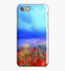 Poppies in the mist  iPhone Case/Skin
