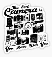 The Best Camera Sticker