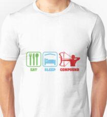 EAT SLEEP COMPOUND Unisex T-Shirt