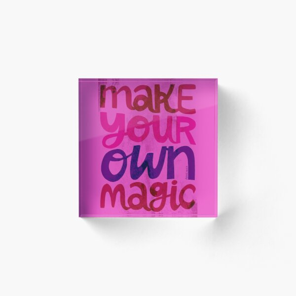 Make Your Own Magic Acrylic Block