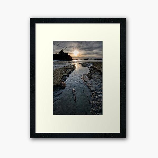 The Stream at McKenzie Beach Framed Art Print