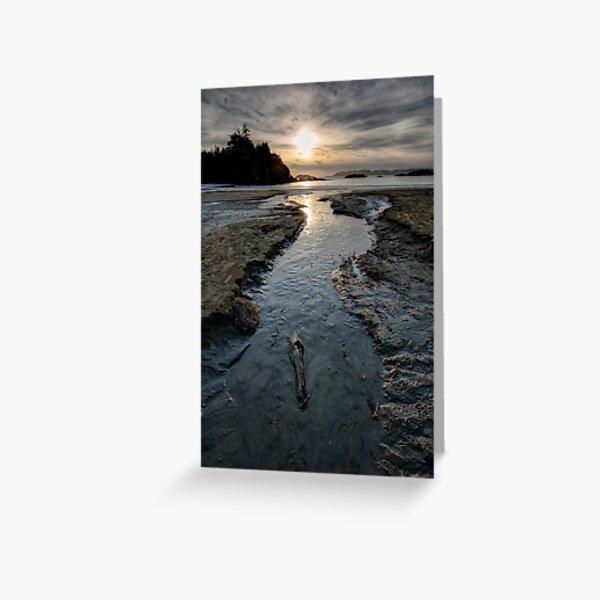 The Stream at McKenzie Beach Greeting Card