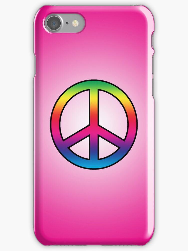 Smartphone Case - Peace Sign - Magenta by Mark Podger
