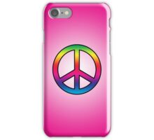 Smartphone Case - Peace Sign - Magenta iPhone Case/Skin