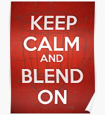 Keep Calm and Blend On Poster