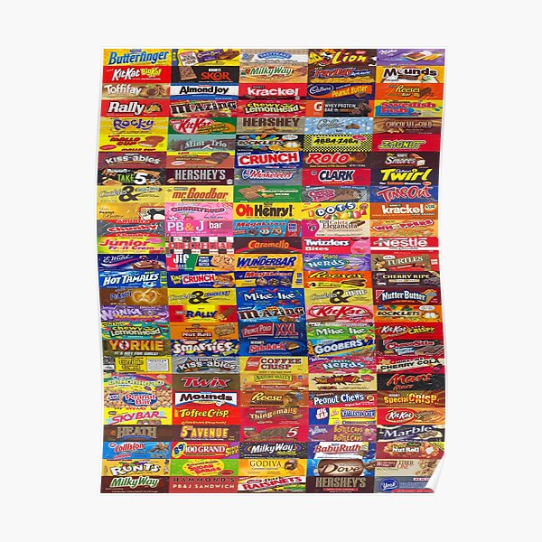 Candy Wrappers Poster