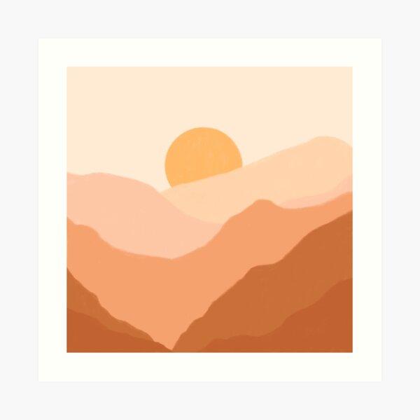 Warm Sunset Art Print