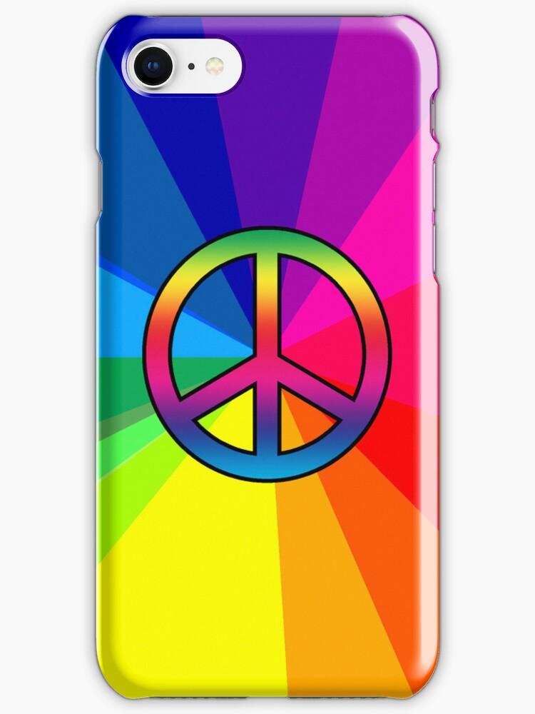 Smartphone Case - Peace Sign - Spectrum 2 by Mark Podger