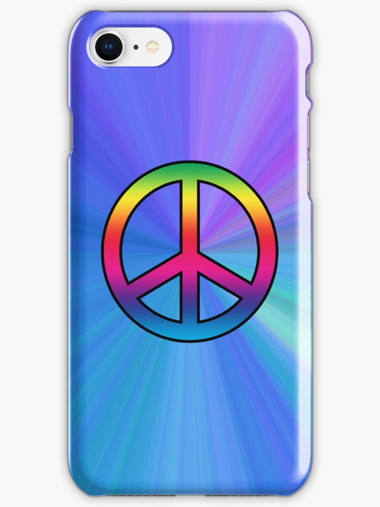 Smartphone Case - Peace Sign - The Blues by Mark Podger