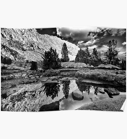 Tarn Reflection in B&W Poster
