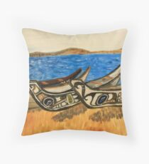 native kayaks in washington Throw Pillow