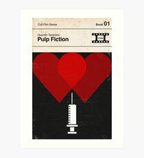 Pulp Fiction Modernist Book Cover Series  Art Print