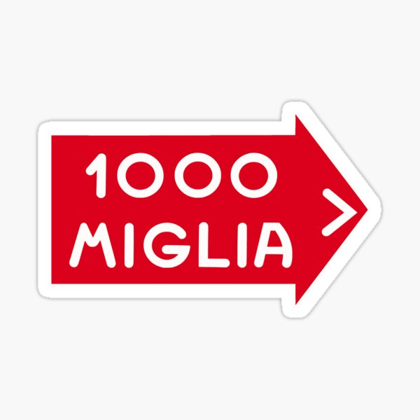 1000 MIGLIA SIGN Sticker