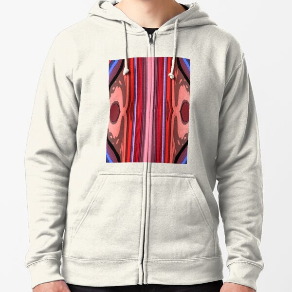 Abstract Lines Zipped Hoodie
