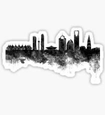 Riad Skyline im schwarzen Aquarell Sticker