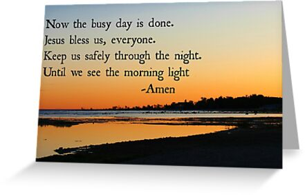 End of the Day prayer by Jeanette Muhr