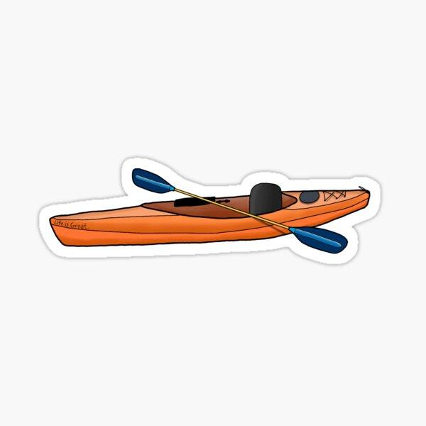 kayak naranja Pegatina