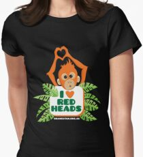 I heart (love) redheads  Women's Fitted T-Shirt
