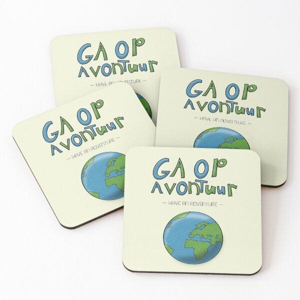 Ga Op Avontuur (Have an Adventure) Coasters (Set of 4)