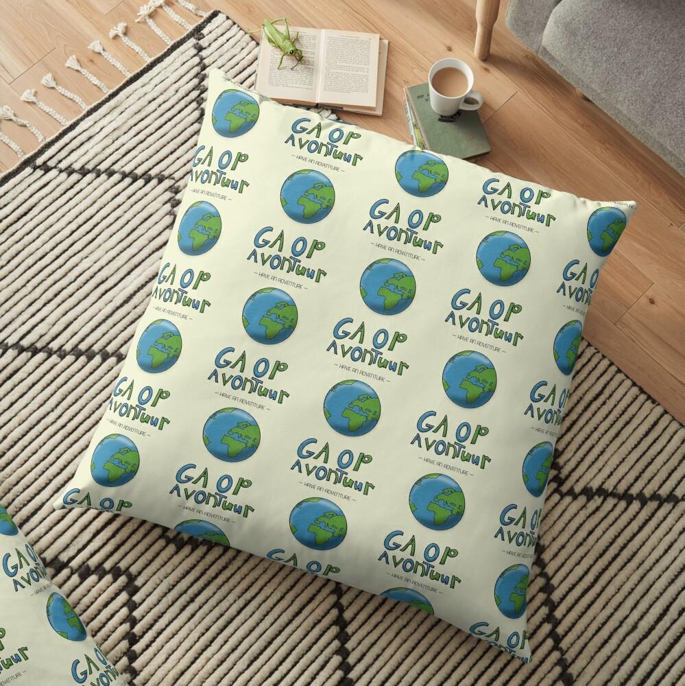 Ga Op Avontuur (Have an Adventure) Floor Pillow